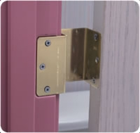 Duro-matic Door Hinge Brass, Pair