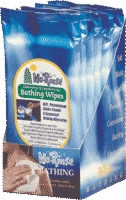 No-Rinse Bathing Wipes, 8 Premoistened Towelettes