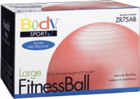 Fitness Ball, 75 Cm, Red, Slow Air Release