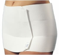"Abdominal Binder, 3 Panel, 9"" Wide, 60""-75"", White"