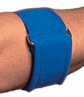"Blue, Un (7""-15"") Plush Tennis Elbow Wrap"