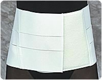"White, Md (32""-38"") 8"" Lumbo Supp W/insert Pocket"