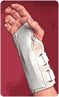 "White, Left, Md (3""-3 1/2"") Cock-up Splint"