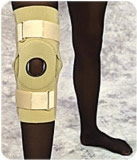 "Beige, Lg (15""-17"") Hinged Knee Support W/straps"
