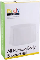 "All Purpose Value Elastic Support Belt,6""w,sml,lf"