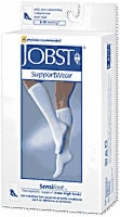 Sensifoot Support Socks,white Knee High,small 1/pr