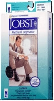 Jobst For Men Thigh, Medium, Black, 20-30 Mm Hg