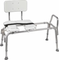 Heavy Duty Sliding Transfer Bench W/cut-out Seat