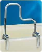 "Tri-Grip Bathtub Rail, 18"" W x 9"" H and 17"" H"