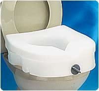 E-z Locked Raised Toilet Seat, Weight Capacity 300