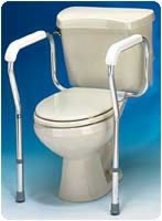 "Toilet Safety Frame, 20""wx17 1/2""dx27""h, 2 Per Cs"