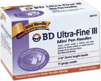 Ultra-fine Iii 31 Ga X 3/16 Mini Pen Needle,100 Ca