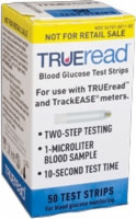 TRUEread Blood Glucose Test Strips (Box of 50)