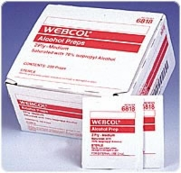 Webcol Large (2 Ply) Alcohol Preps, 200/carton