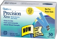 Precision Xtra End Fill Test Strips, 50/box