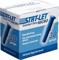 Stat-let Comfort Thins, Micro, 30 G, 100/box