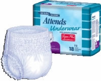 "Attends Pull-ons Underwear Large, 44"" - 58"" (Bag of 18)"