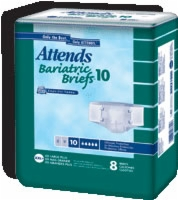 Attends Bariatric Briefs 10 Easy Fit Xxl Plus (Bag of 8)