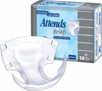 Attends Briefs, Extended Wear, Medium (Bag of 18)