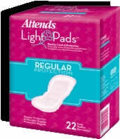 "Attends Light Pads Regular Protection, 8.5"" (Bag of 22)"