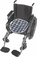 "Reusable Quilted Wheelchair Pad, 18""x18"", Green Plaid (Pack of 2)"