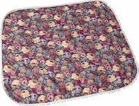 "Reusable Quilted Wheelchair Pad, 18""x18"", Floral (Pack of 2)"