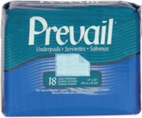 "Prevail Large 23"" X 36"" Underpads (Bag of 18)"