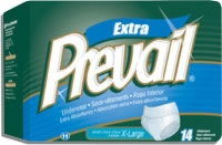 "Prevail Protective Underwear, Xlarge 58""-68"" (Bag of 14)"