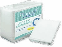"First Quality Underpads, 23"" X 36"", Green (Bag of 15)"
