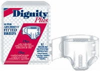Dignity Plus Medium Fitted Briefs, 12 Per Bag