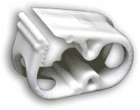 Adjustable Tube Clamp, White, Each
