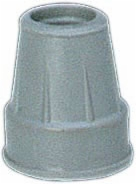 "Gray Tips, Pair, Fits 3/4"" Diam Canes"