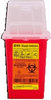 "1.5 Qt Nestable Sharps Container, 9"" X 4.5"" X 4"""