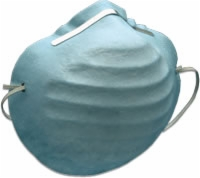 Aseptex Molded Style Mask, Latex Free, Blue, Box of 50