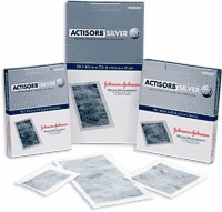 "Actisorb Silver Antimicro Dressing, 4 1/8"" X 7 1/2"