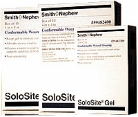 "Solosite Gel Conformable 2"" X 2"" Dressing, 10/box"