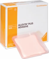 "Allevyn Plus Adhesive Dressing, 5"" X 5"", 10/box"