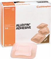 "Allevyn 5"" X 5"" Adhesive Dressings, 10 Per Box"
