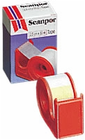 "Scanpore 1"" X 11 Yd Tape w Dispenser, Each Roll"