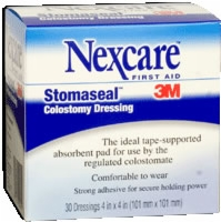 "Stomaseal Colostomy Dressing, 4"" X 4"", Box Of 30"