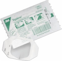 "Tegaderm Transparent Dressing, Oval 4"" X 4 1/2, Ea"
