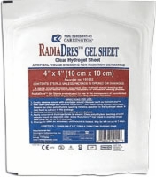 "Radiacare 4"" X 4"" Gel Sheets, 10 Per Box"