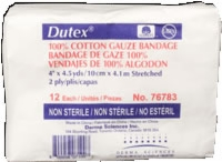 "Dutex 100% Cotton 4"" X 4.5 Yds, 2 Ply, Non-strl,12"