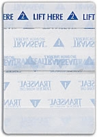 "Transeal 2.5"" X 2.75"" Transparent Dress, (4-100's)"