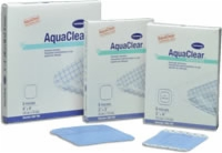 "Aquaclear Latex Free Gel Sheet Dressing, 4"" X 4"""