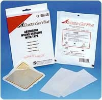 "Elasto-gel 2"" X 3"" Dressing W/tape, 5 Per Box"