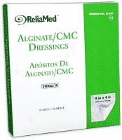 Reliamed 4x4 Calcium Alginate/cmc Blend, 10/box