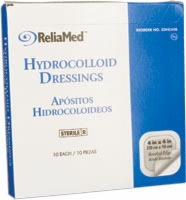 4x4 Hydrocolloid Wound Dressing, Thin, 10/box
