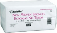 "Reliamed Non-woven Drsn/spng, 4"" X 4"", 4 Ply, 200"