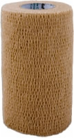 "Self Adherent Elastic Bandage, 4"" X 5yds,tan,latex"